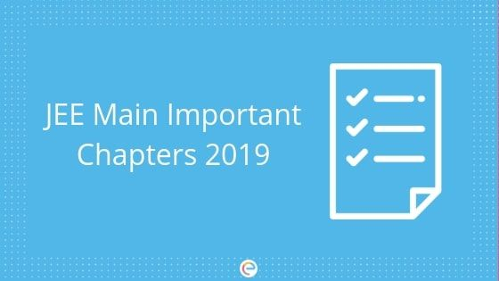 Jee Main Important Chapters With Images Exam