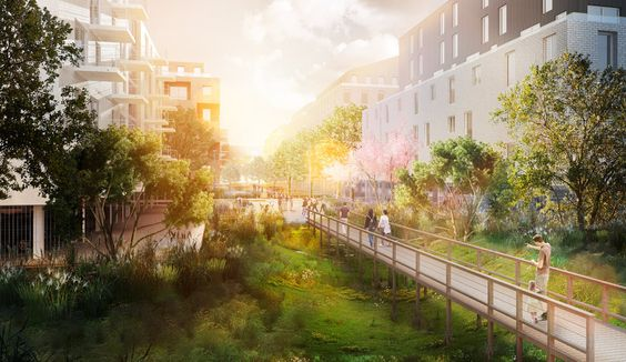 Image du futur quartier des berges de Lissandre à Lormont, AAUPC