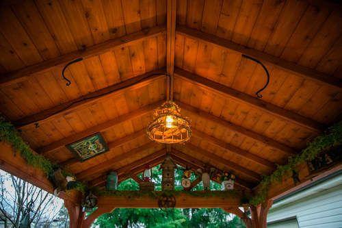 Red Cedar Gabled Roof Pavilion Rustic Pergola Pergola Pergola Designs