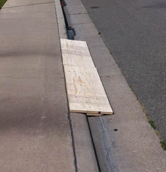 Wood DIY Curb ramp