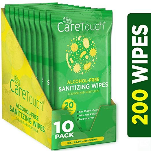 Amazon Com Care Touch Alcohol Free Hand Sanitizer Wipes 10