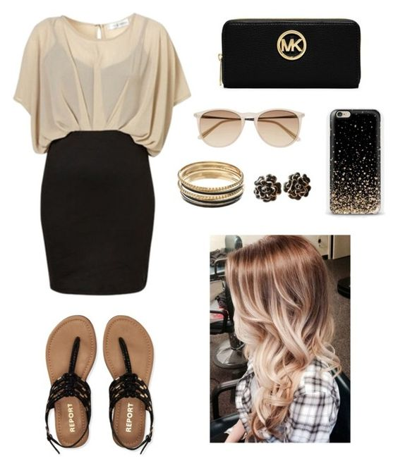 """""""Black and gold !!!"""" by anyseevans ❤ liked on Polyvore featuring косметика, Aéropostale, MICHAEL Michael Kors, Witchery, Chanel и Jennifer Lopez"""
