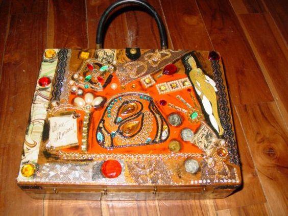 """Mine All Mine"" Vintage Cigar Box purse by C. Reinke"