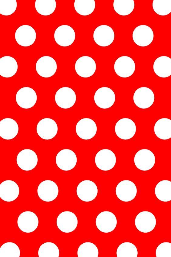 red white dots wallpaper - photo #15