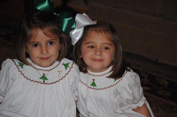 Christmas Tree Bishop Dresses!