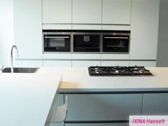 Greeploze Keuken Ixina : Keukenrealisatie greeploze keuken IXINA greeploze