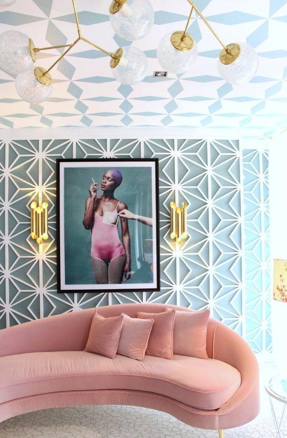 8 Stunning Interiors That Prove Velvet Is The Most Popular Fabric Right Now Texture Interior Design Quirky Living Room Decor Interior Design