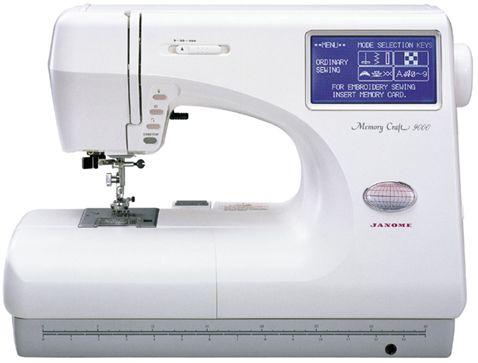 janome memory craft 9000 sewing machine
