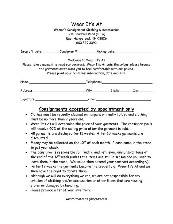 Clothing Consignment Contract Template scope of work template - consignment agreement template word