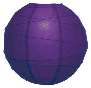 Plum Purple 20 Inch Round Premium Paper Lantern (free-style ribbing)