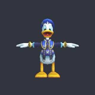 Duck free 3d model donald vertices 1617 for Donald model