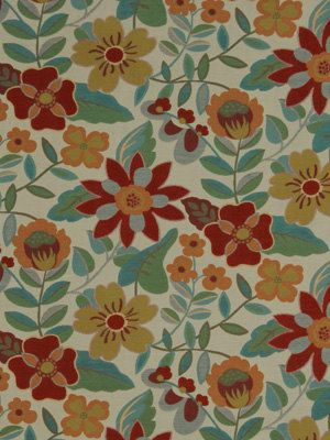 for a chair or 2 sofa pillows red teal floral upholstery fabric by greenapplefabrics chair upholstery fabric 2