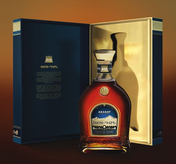 Dvin, Armenian brandy by Elena Bulay, via Behance