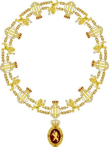 Collier Ordre du Lion Norvege