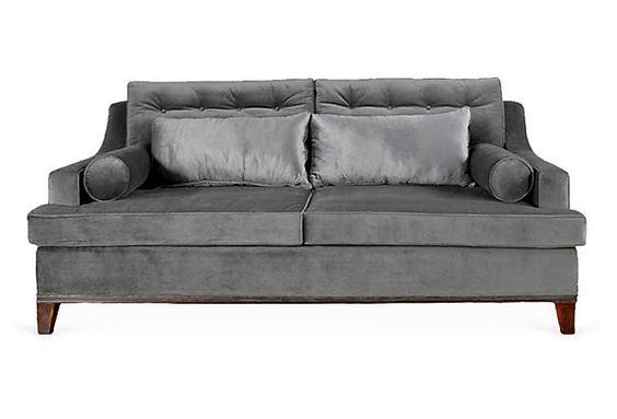 Bravo Sofa, Gray on OneKingsLane.com