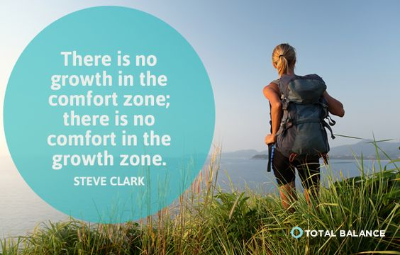 """There Is No Growth In The Comfort Zone, There Is No"