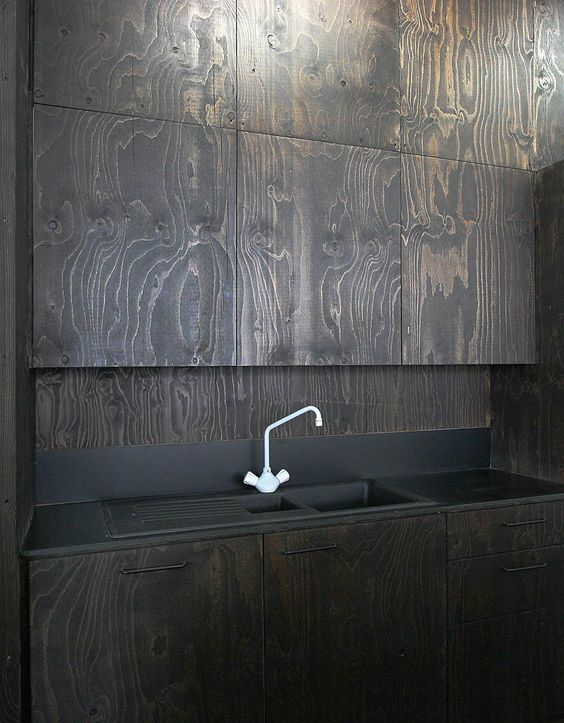 Or Just Stain Plywood Black Brown Plywood Kitchen Plywood Interior Plywood Walls