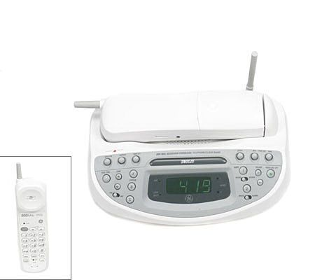 this is my ge 39 s 900mhz cordless bedroom phone it is equipped with a dual alarm am fm radio or. Black Bedroom Furniture Sets. Home Design Ideas