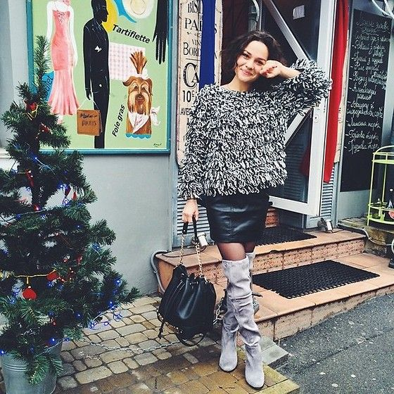 Choies Boots, ParisComing Sweater #streetstyle #ParisComing daily LookBook 01.29