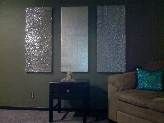 Wall Decor With Glitter : Glitter walls and wall art on