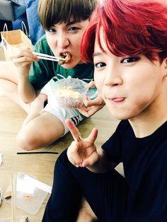 J-Hope & Jimin - BTS Twitter[150704] | btsdiary