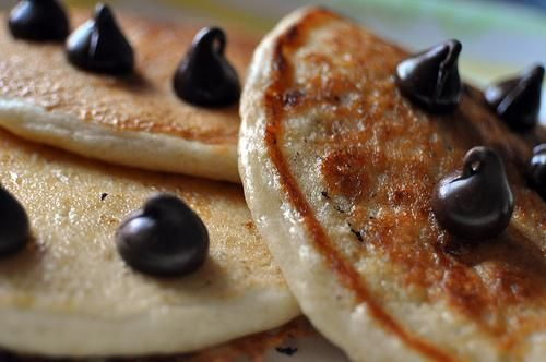I think I need to tweak this recipe a bit, but could be a staple.  Of course, everyone knows they should be called pikelets. Pancakes are flat and have no sugar.