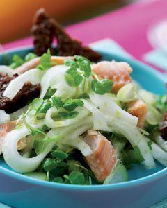 laks med fennikel salat