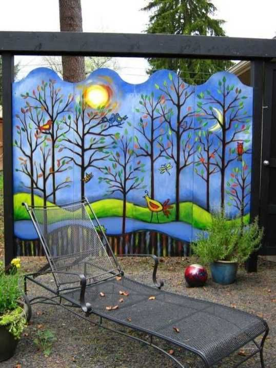 Awesome Fence Art Ideas For Your Backyard Fence Art Garden Fence Art Garden Mural