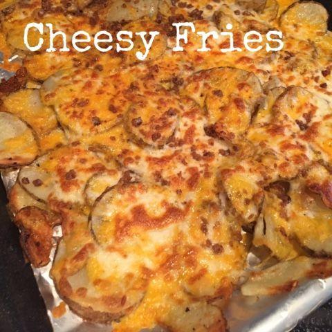 Wishes do come true...: Cheesy Fries (Potato slices) aldi recipe easy side dish                                                                                                                                                                                 More