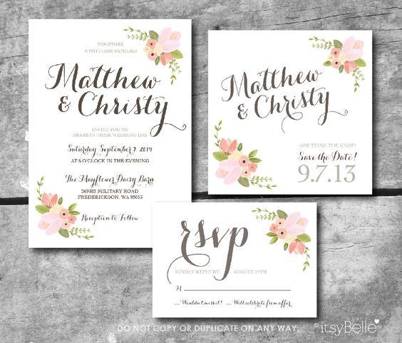 rustic floral wedding suite custom printable rsvp On rsvp date for wedding