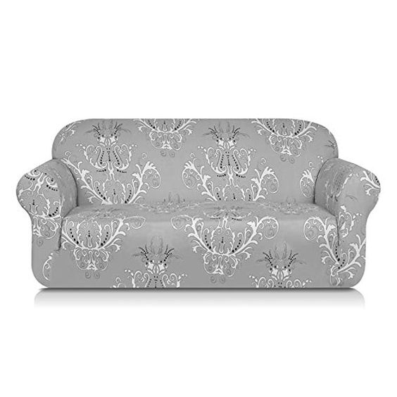 Amazon Com Tikami Printed Floral Sofa Slipcovers Stretch Spandex Couch Covers Stylish Furniture Protector Fo Slipcovered Sofa Loveseat Slipcovers Couch Covers