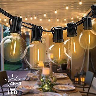 Bomcosy Led Lichterkette Aussen Fochea Lichterkette Gluhbirnen G40 15m 464 1w Led Globe Birnen Lichterkette Gluhbirnen Lichterkette Aussen Led Lichterkette Aussen