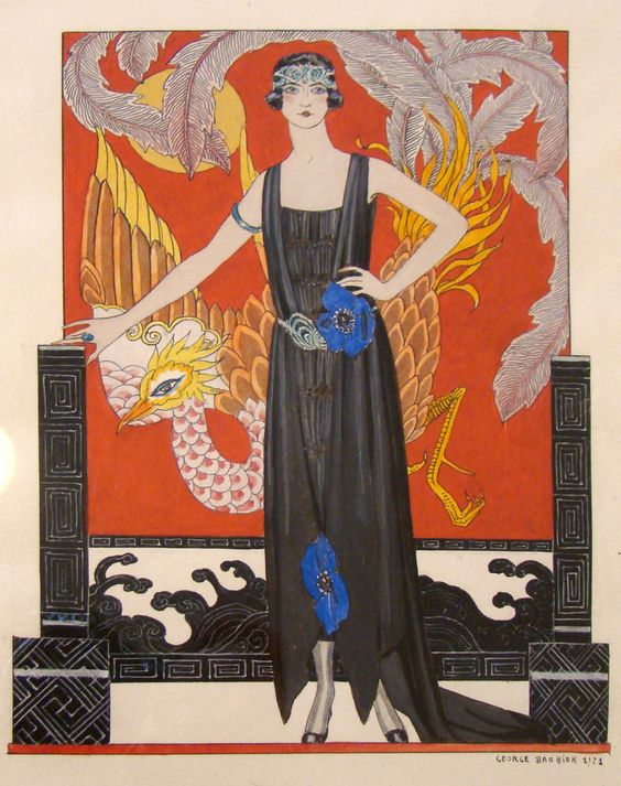 """""""La Belle Dame Sans Merci"""", original design for La Gazette du Bon Ton, George Barbier, 1921"""