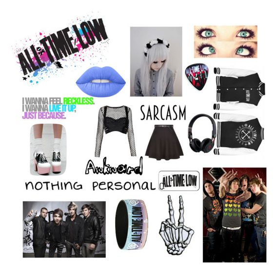 """""""All time low"""" by theinternetfreak ❤ liked on Polyvore featuring Sugarbaby, Lime Crime, Beats by Dr. Dre, Motel, Bordelle and New Look"""