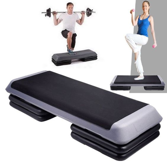 Details About Aerobic 3 Stack Level Step Fitness Exercise Workout Bench Gym Equipment Sexy Bum