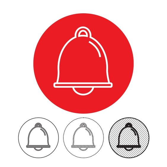 Bell Icon Vector Bell Icons Bell Sound Png And Vector With Transparent Background For Free Download Youtube Banner Template Free Vector Illustration Free Vector Graphics