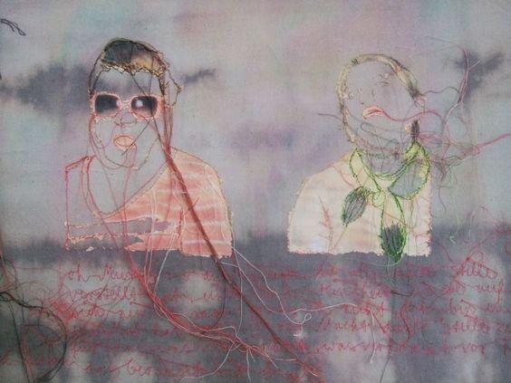 Textil Kunst: verstoffte Bilder