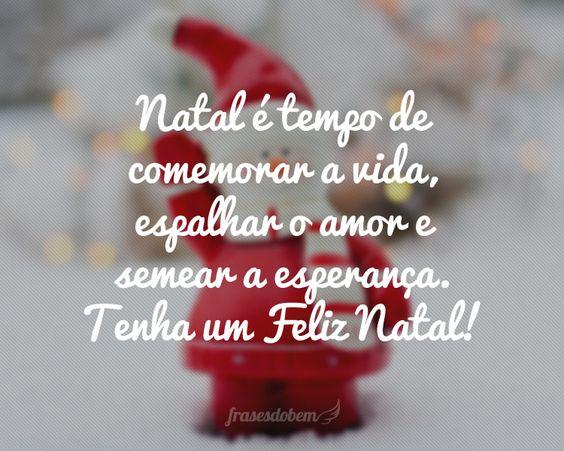 Natal é tempo de comemorar a vida, espalhar o amor e semear…