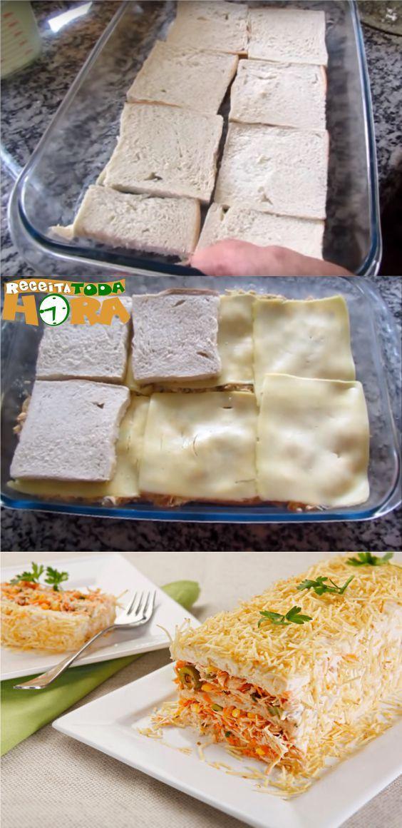 Torta De Pao De Forma De Frango Com Imagens Receitas Receitas