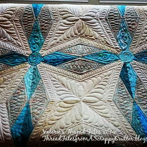 This could be yours.  Quilted by me #147 at the MD Anderson Ovarian Cancer online auction. #customlongarmquilting #freemotionquilting