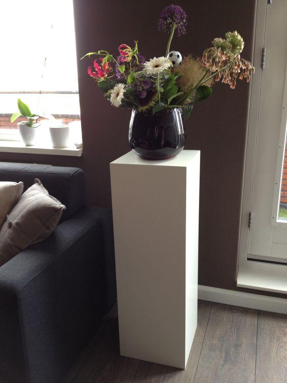 Solits mdf sokkel of zuil wit gespoten interieur pinterest - Voorbeeld van decoratie ...