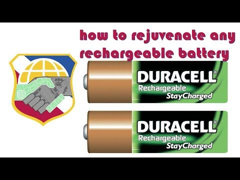 How To Fix A Dead Rechargeable Battery Revive Restore Rejuvenate Jump Start Any Damaged Batteries Youtube Rechargeable Batteries Battery Recharge