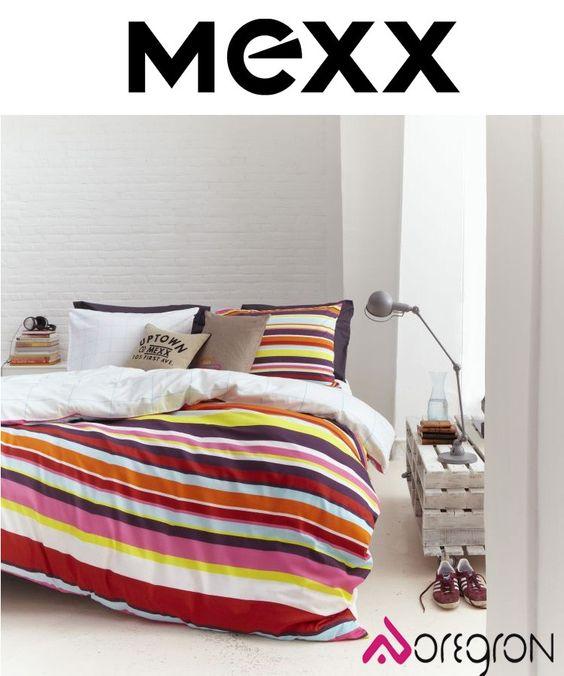 ROME MULTI Het dekbedovertrek Rome Multi van Mexx heeft een vrolijk streep dessin door de vele kleuren die gebruikt zijn. Het Rome Multi dekbedovertrek is te gebruiken aan twee kanten, het vrolijke streep dessin en een witte zijde.