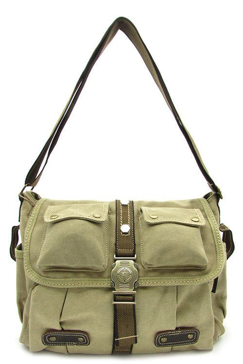 {Canvas Messenger Adjustable Bag}