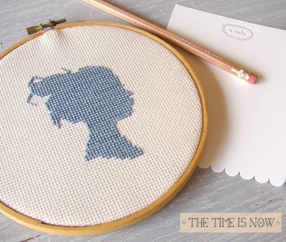 cross-stitch silhouette