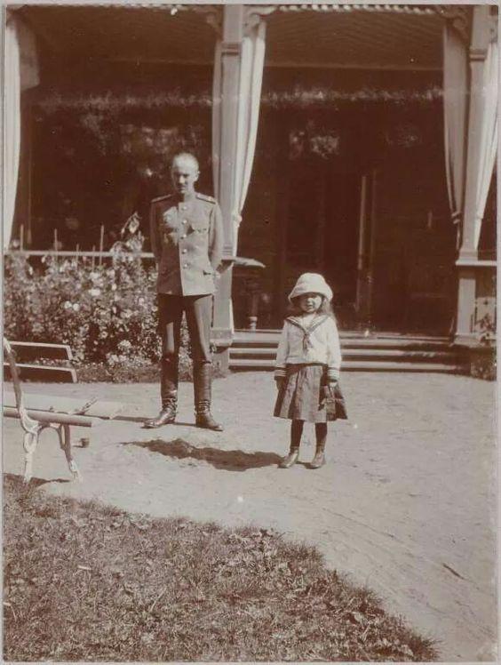 Anya Alexandrovna Vyrubova's brother,Sergei and niece.A♥W