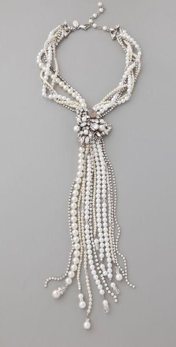 Erickson beamon White Wedding Necklace in White | Lyst