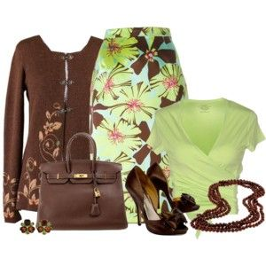 Floral Skirt for Spring