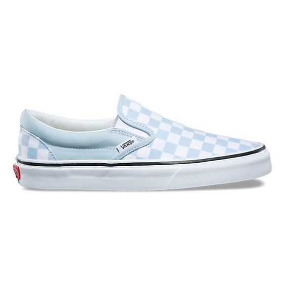 vans checkerboard slip on femme