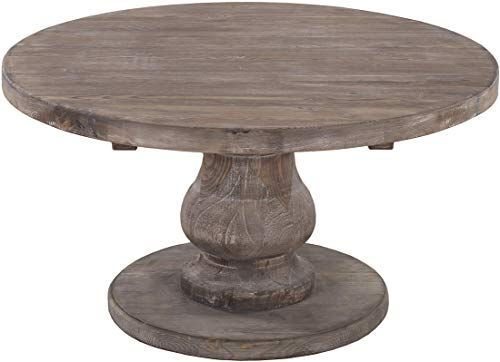 Best Seller Benjara Brown Traditional Style Wooden Round Coffee Table Pedestal Base Online Showmet Traditional Coffee Table Round Coffee Table Coffee Table